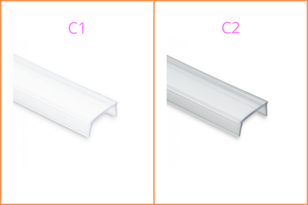 Kunststoffblende zu LED-Aluprofil YL1/ 2 / 3 / 7 / 8 / 13