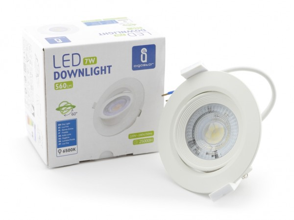 LED Downlight 7W schwenkbar 6500K 560lm 230V 60° Abstrahlwinkel