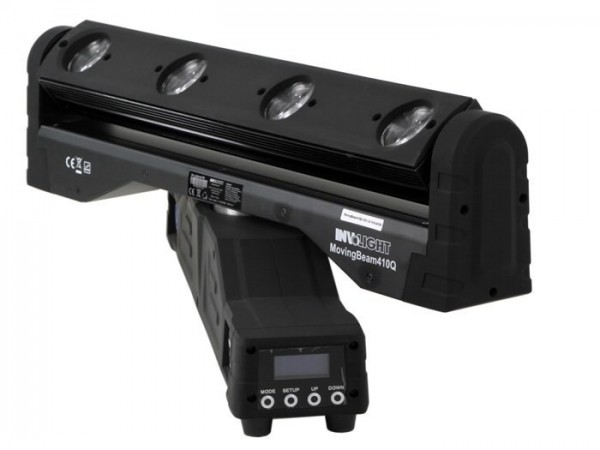 MovingBEAM 410Q 4x 10W Moving LED Bar RGBW 1-26 DMX Kanäle 2° Beam 360°-Rotation