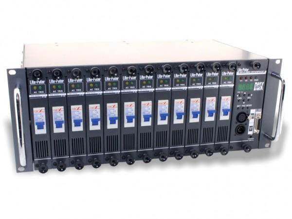 "DX-1210 modularer Dimmer DMX 12x10A 19"" 3-Phasen"