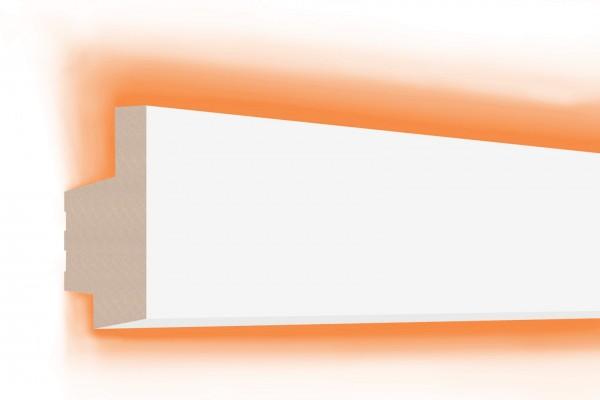 LED Stuckprofil Typ: 18 - 65x35mm PU 2m Länge lichtundurchlässig überstreichbar