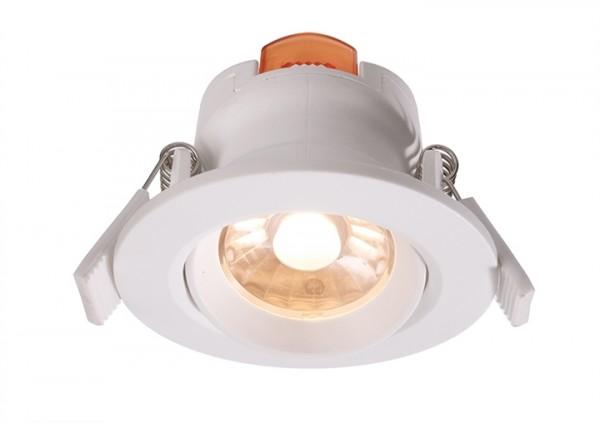 LED Downlight 6,5W 2700K 36° 230V dimmbar weiss