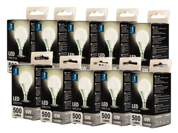 LED Leuchtmittel A5 G45 6W E14 6400K kaltweiss 10er Pack