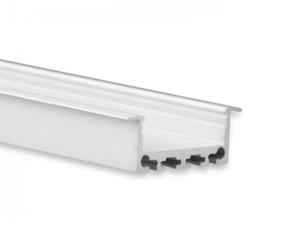 LED Alu-Profil YN5 (satiniert) ohne Blende 2m 24mm Innenbreite