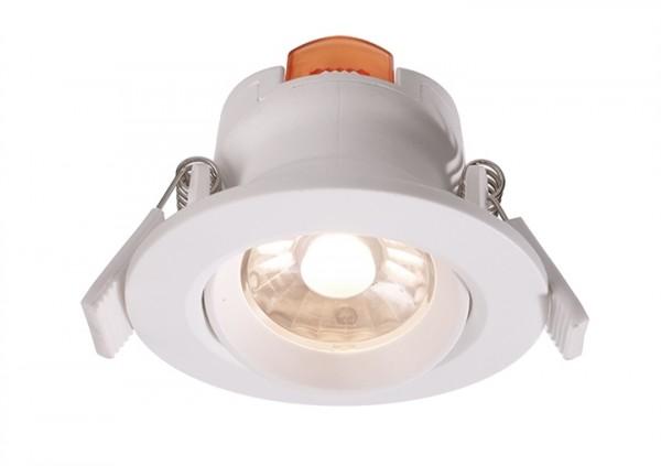 LED Downlight 6,5W 3000K 36° 230V dimmbar weiss