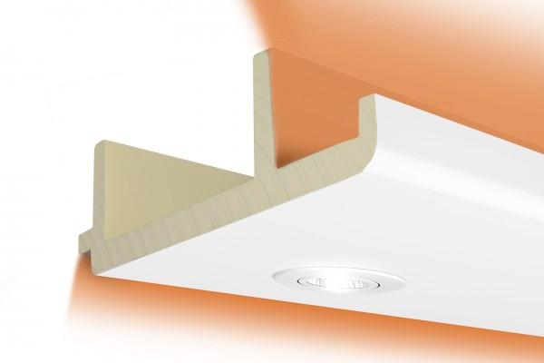 LED Stuckprofil Typ: 16 - 100x300mm PU 2m Länge lichtundurchlässig überstreichbar