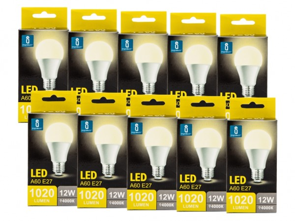 LED Leuchtmittel A60 12W E27 4000K neutralweiss 10er Pack
