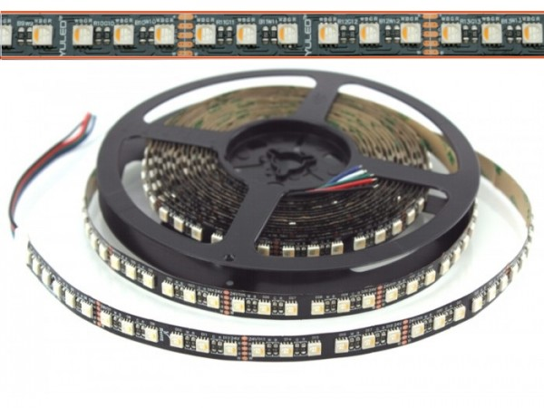 LED Flex Stripe UHP 6m RGBW-XC 96x 4-in1 LEDs/m RGB+warmweiss 24V Black-PCB