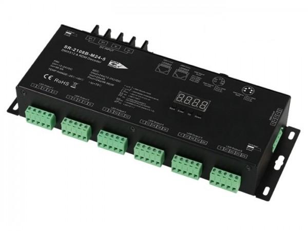 SR-2108B-M24-3 DMX / RDM 24x4A - PWM select XLR RJ45 LED Controller