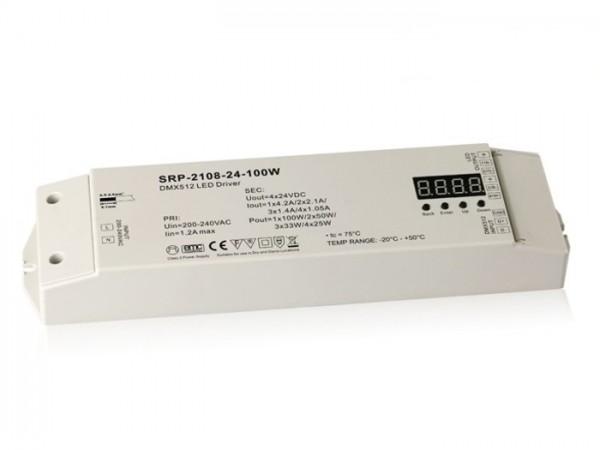 SRP-2108-24-100 DMX Power-Controller 4-Kanal 100W 24V DC