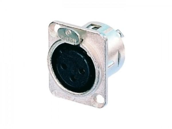 NC 3 FDL1 XLR Einbaubuchse, silber 3-Pol
