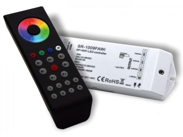 SR-1100WIFI-SET LED Controller Komplett-Set 4x5A inkl. SR1100MKII FB Schwarz