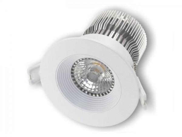 DL-2018W LED Einbaudownlight weiss, 18W CREE COB 1800-2200lm, inkl. Netzteil