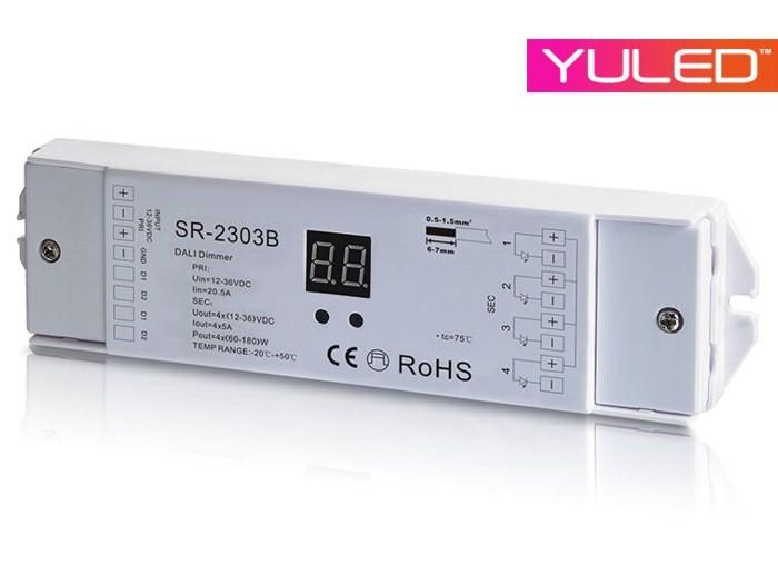 Sr 2303b dali led controller 4 kanal 4x5a 12 36v everen for Koch 4 kanal led funkfernsteuerung