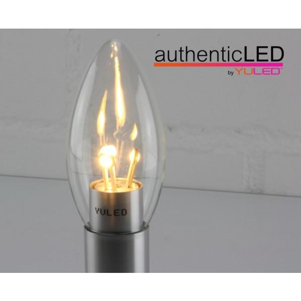 led x5 kerzenlampe 4w 310lm m 230v 2700k dimmbar glas klar everen led and light solutions. Black Bedroom Furniture Sets. Home Design Ideas