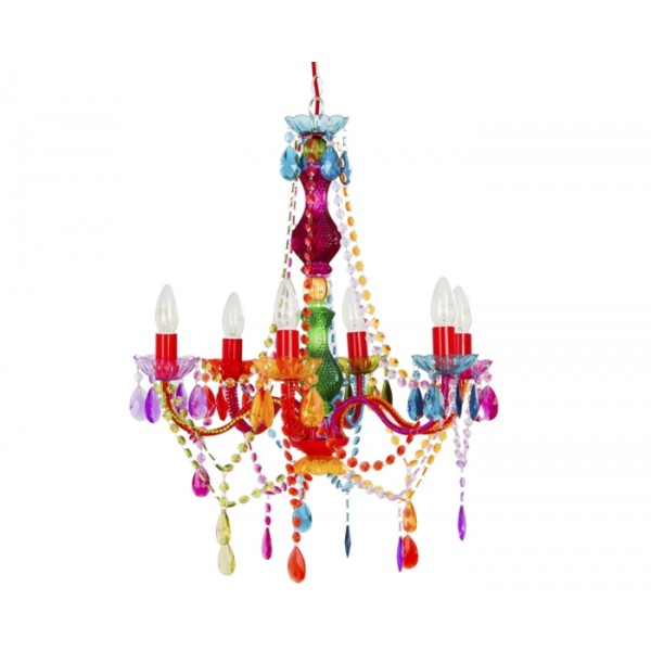 romeo tutti frutti design kronleuchter 6 arme multicolor. Black Bedroom Furniture Sets. Home Design Ideas